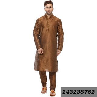 Brown Regular Fit Ethnic Kurta For Men's