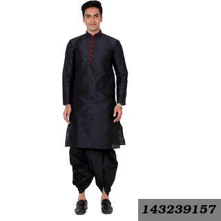 Men'S Silk Blend Dhoti Kurta Set