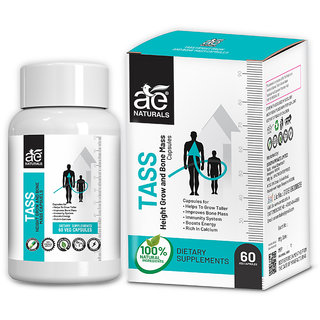 AE Naturals TASS Height Grow And Bone Mass Capsules 60 Capsules