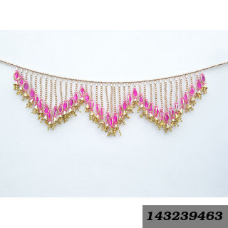 Decorative Door Hanging Jhumki Toran Handcrafted With Colorful Beads For Diwali Home Decoration