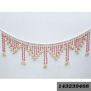 Decorative Door Hanging Parda Toran Handcrafted With Colorful Beads For Diwali Home Decoration