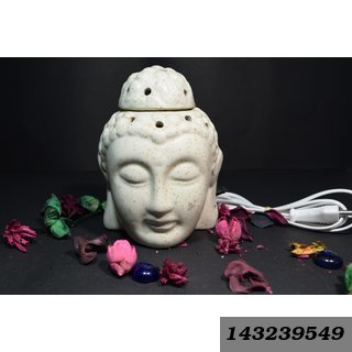 Yourcull Electric Diffuser Ceramic Aroma Oil Burner Buddha Shape With 20Ml Fragrance Oil.