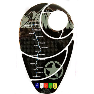 Spidy Moto 3D Motorcycle Waterproof Tank Pad Protector Decal Sticker 006 For Bullet Bikes
