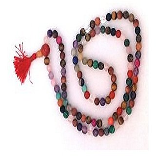 100 Original Lab Certified Natural Navaratna Mala By Jaipur gemstone