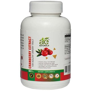 AE NATURALS Cranberry Extract Capsules For Healthy Urinary Tract 90 Caps