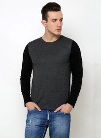 Rigo Men's Black Round Neck T-shirt