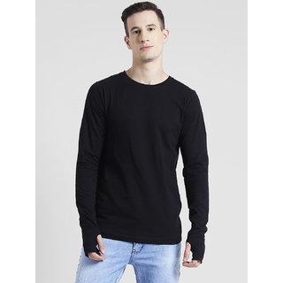 a19ae434fed Buy Rigo Black Thumbhole Full Sleeve T-Shirt For Men Online - Get 0% Off