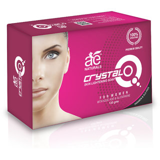 AE NATURALS Crystal Q Skin Whitening Soap For Women With Kojic Acid  1 X 135g