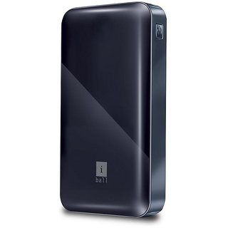 iBall 12000 -mAh Li-Polymer Power Bank (Black)