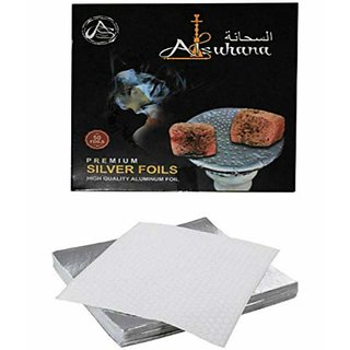 SCORIA Alsuhana Silver Aluminium Foil for Hookah 50Pc
