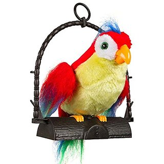 Talk Back Battery Operated Parrot Toy for Kids (Multicolor)