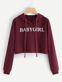 Raabta Maroon BABY GIRL Pullover Sweatshirt