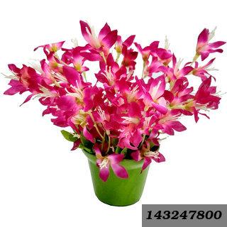 8 Inch Round Fibre Pink Forsythia Artificial Flowers