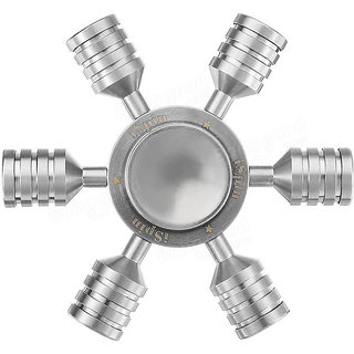 AC Atoms Metallic Six Sided Fdget HandSpinner Toy for Kids Adults