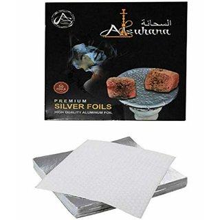SEGGO Alsuhana Silver Aluminium Foil for Hookah 50Pc