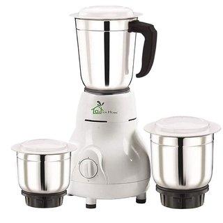 Green Home Matka 3 Jar 450 W Mixer Grinder (White 3 Jars)