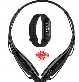 HBS 730 NECKBAND AND M3 SMART BAND ( COMBO OFFER )