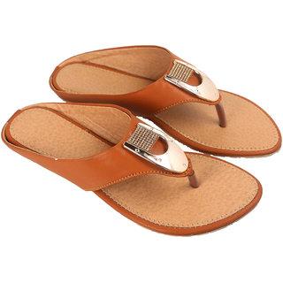 Be You Women Brown Open Toe Flats Footwear