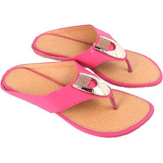 Be You Women Pink Open Toe Flats Footwear