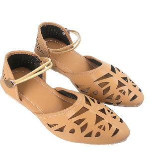 Be You Women Beige Pointed-Toe Flat Sandal / Bellies