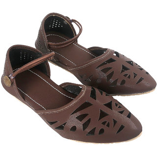 Be You Women Brown Pointed-Toe Flat Sandal / Bellies