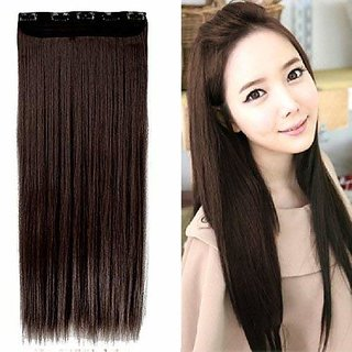 GaDinStylo 26-Inch 5 Clip Based Synthetic Fashion Hair Extension / Hair Wig / Dark Brown Hair Accessories