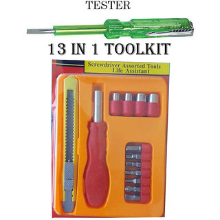 13 in 1 Screwdriver ToolKit + Free 1 Electric Tester