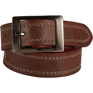 Imperior Dark Brown PU Belt (Synthetic leather/Rexine)