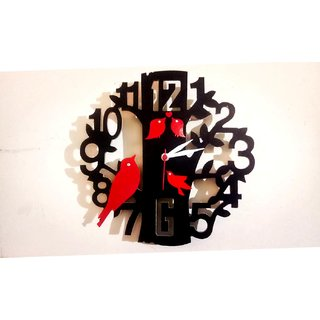 ENAMISS 4REDSPARROW WALL CLOCK