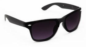 TheWhoop UV Protected Black Premium Wayfarer Unisex Sunglasses. Square Shape Stylish Goggles For Men Women Girls Boys