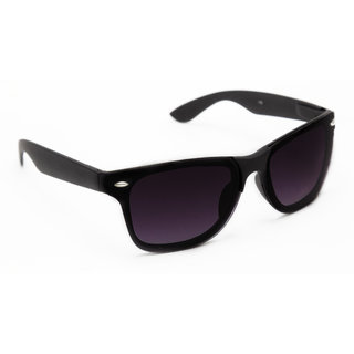 TheWhoop UV Protected Black Premium Wayfarer Unisex Sunglasses. Square Shape Stylish Goggles For Men Women Girls Boys