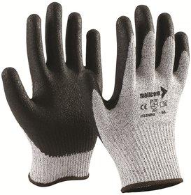 Mallcom H33NBG NBR Coated Cut 5 Tuf-Tec Yarn Glove (1 Pair), Size 8