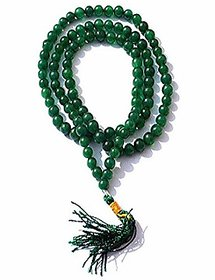100 % Original Green Agate/ Sulemani Hakik mala By Jaipur Gemstone