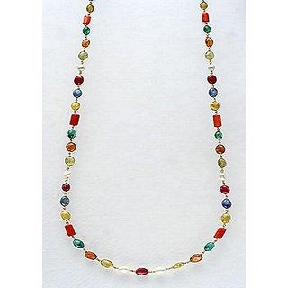 100 Original Navaratna Beads Mala Certified Precious Stone Navgrah Copper mala Jaipur Gemstone