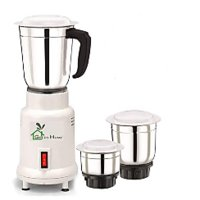 Green Home 450 Watt 3 STAINLESS STEEL JAR  Mixer Grinder(White, 3 Jars)