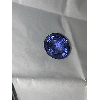 Blue Sapphire (Neelam) 8 Ratti Certified Natural Rashi Ratan Gemstone by Jaipur Gemstone
