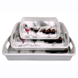 Dine Master Diamond Serving Trays 3 pcs Printed (Large Medium Small)