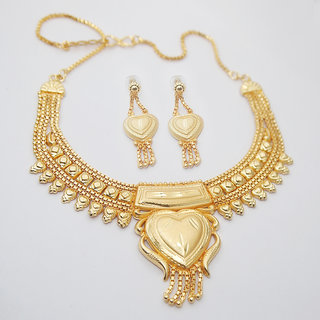 JewelMaze Brass Forming Necklace Set-1108108