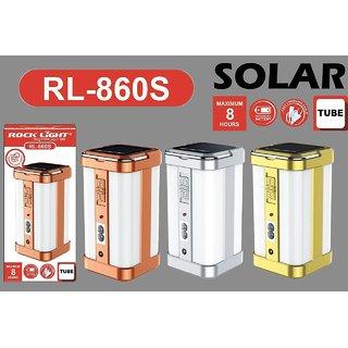 Rock Light RL 860s Solar Rechargeable Four Side Tube Emergency Light