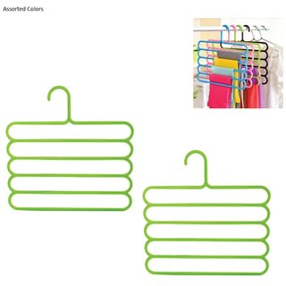 5 Layers Hanger for Pants/Scarf/Towels (set of 2pcs) Assorted color