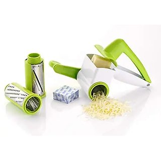 2 In 1 Multi Purpose Rotary Drum Dry Fruit Slicer And Cheese Grater (Multi Color)