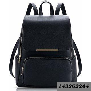 Black Color Backpack in Denim for Women