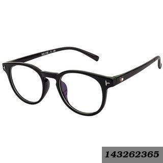 3ab2637f10 Anti -Glare   Transparent Black Uv Protection Full Rim Round Eyeglass Frame