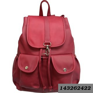 Marron Color Backpack in Fabric for Women