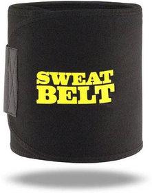 Hot Shapers  Fat Burner Sweat Waist Trimmer Belly Tummy Yoga Wrap Black Exercise Body Slimming Belt