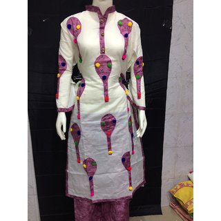 IHA Women's Multicolor Printed Cotton stitched suits