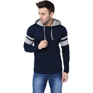 Bi Fashion Round Neck Contrast Hood Full Men's Designer T-shirt
