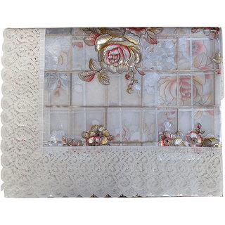 Dollzy Table Cover Keser Rose-Flower Print 4 Seater (Golden)