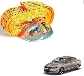 Auto Addict Heavy Duty Car Nylon Towing Rope 3000Kgs Pull Capacity (Yellow, 3.5 m) For Skoda Octavia