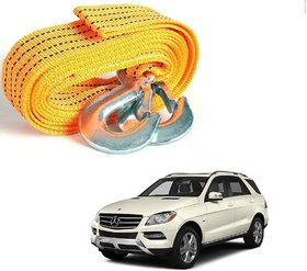 Auto Addict Heavy Duty Car Nylon Towing Rope 3000Kgs Pull Capacity (Yellow, 3.5 m) For Mercedes Benz GLC-Class